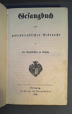 Hymns Leipzig in 1844 For The Charity School