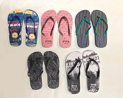 Job Lot 60x Flip Flops New Kids Boys Girls Jelly Flipflops New Slippers Joblot B