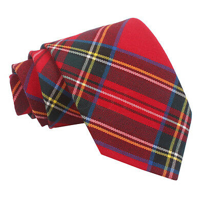 New Dqt Tartan Red Royal Stewart Men's Tie
