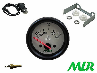 52Mm Coolant Temperature Gauge & Sender Kit Electric White Face Water Temp Azq