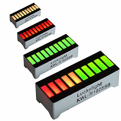 10 Segment LED Bargraph Light Display Red Yellow Green UK SELLER