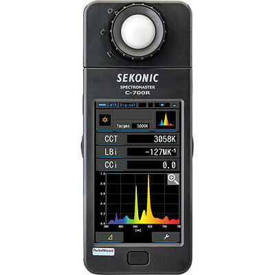 NEW Sekonic C-700R SpectroMaster Color Meter With Wireless Flash Triggering