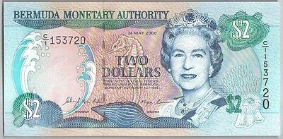512-0675 # Bermuda | Monetary Authority, 2 Dollars, 2000, Unc