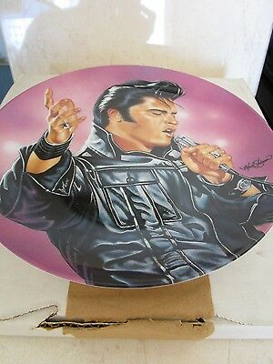 Elvis Presley 'blues And Black Leather' Collectors Plate