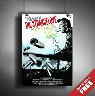 DR STRANGELOVE 1964 MOVIE POSTER A3 A4 * Classic Stanley Kubrick War Comedy Film
