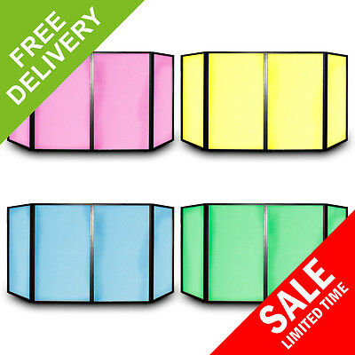 Vonyx 4 Panel Facade Front DJ Lighting Mobile Disco Booth Screens Foldable Panel