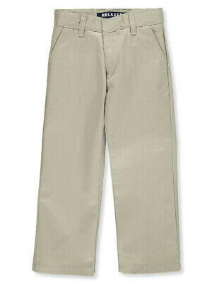 French Toast Little Boys' Flat Front Wrinkle No More Double Knee Pants