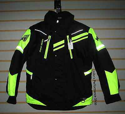 Choko Kids Youth Safety Lime HR7 Snowmobile Jacket 12 14 16 18 22JKOSF-