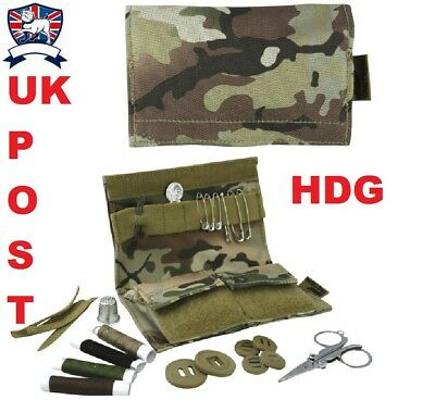 S95 SEWING SEW KIT POUCH - BRITISH ARMY MULTICAM CAMO MTP - Scissors etc