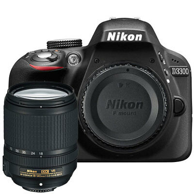 Nikon D3300 24.2 MP Digital SLR Camera Body + Nikon 18-140mm ED VR Lens Kit