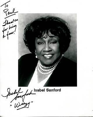 """Isabel Sanford """"weezy"""" Of The Jeffersons Television Show Signed Photo Autograph"""