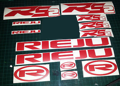 Rieju RS2  CUSTOM Decals/Stickers ALL COLOURS AVAILABLE  matrix, rs 2 rs3 50 125