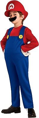 *New* Deluxe Child Costume-Super Mario Bros-Mario Size 7+-Accessories Included