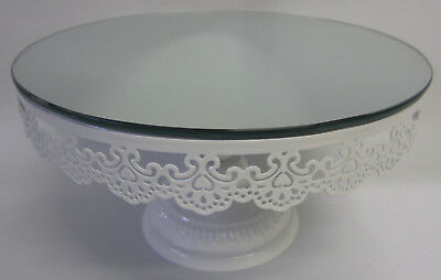 25cm New French Provincial Cake Plate Stand To Display Birthday & Wedding Cakes