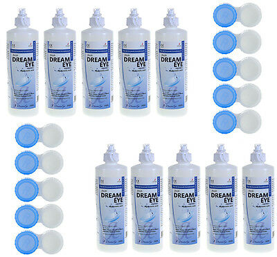 10x 350ml  Kombilösung DreamEye All-in-One-Pflegemittel für weiche Kontaktlinsen