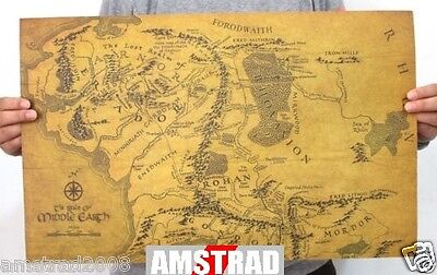 Mappa Il Signore Degli Anelli -Map Poster The Lord Of The Rings 51 X 36 Cm