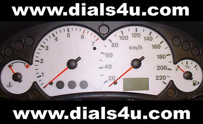 FORD FOCUS Mk1 (1998-2004) - 220km/h (Petrol or Diesel) - WHITE DIAL KIT