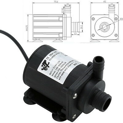 DC 12V 700L/H Brushless Magnetic Submersible Water Pump Fish Tank Pond Garden