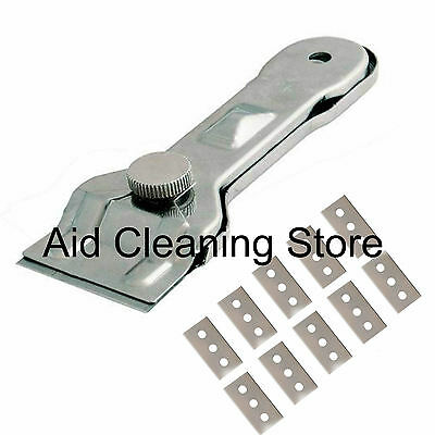 Glass & Ceramic Hob & General Metal Paint Scraper With 10 Spare Blades