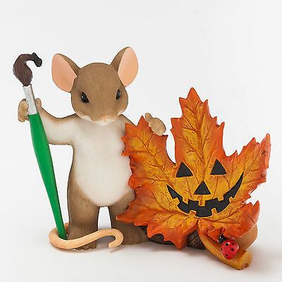 Charming Tails Leave a Smile Mouse Fall Leaf Halloween Fall 4046778 NEW Figure