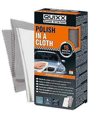QUIXX Polish in a Cloth. Paint is polished and sealed in only one step!VERY EASY