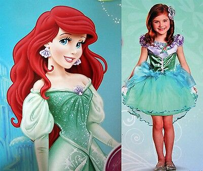 *New* Disney Deluxe Toddler Costume-PRINCESS ARIEL-THE LITTLE MERMAID-Size 3T+