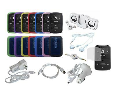 Lot 14 Item Accessory Bundle Combo Kit Set for Sandisk Sansa Clip Jam (SDMX26)