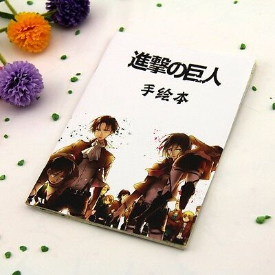 Anime Attack on Titan Manuscript Art Paper Hand Drawing Book Sketch Book Gifts