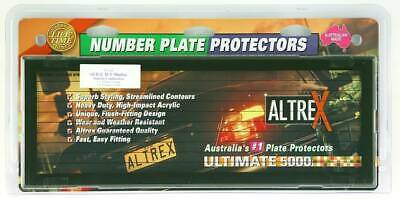 Number Plate Covers - Slimline/Std, Black Pinlined, Pair - #6QSL