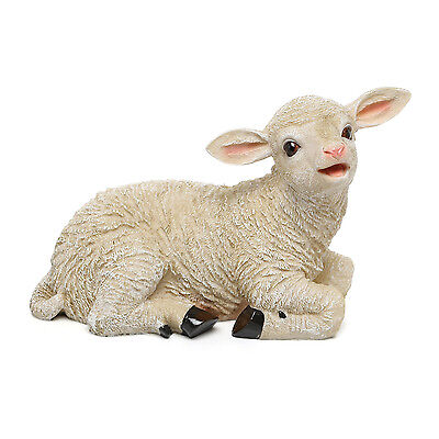 New Design Toscano Sitting Yorkshire Lamb Garden Statue Figure Garden Ornament