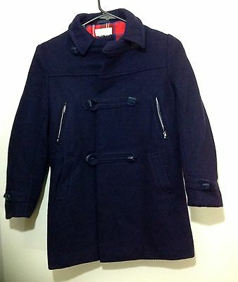 I. MAGNIN Vintage COAT 100 % Wool DARK BLUE VERY RARE SIZE 10 Made In England