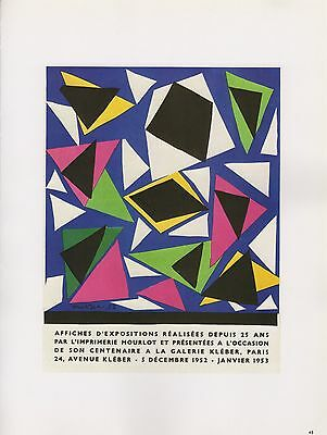 "1989 VINTAGE /""MATISSE/"" BAL ARTS DECORATIFS MOURLOT COLOR offset Lithograph"