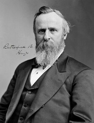 RUTHERFORD B. HAYES - Repro-Autogramm 20x26cm Großfoto (19. US Präsident)