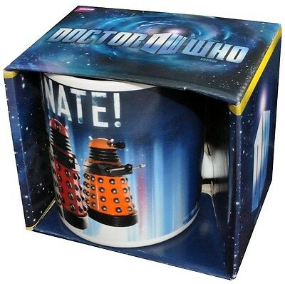DOCTOR WHO Daleks Exterminate Mug NEW In Box * dalek coffee tea water drinks cup