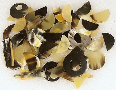 100 grams Animal Cow Horn Polished for JEWELRY MAKING Approx 60 PIECES LOT