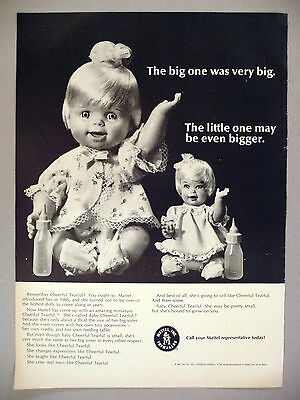 Baby Cheerful Tearful Doll PRINT AD - 1967 ~ toy, toys ~ Mattel dolls