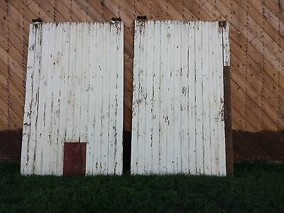 Vintage Salvaged Reclaimed Double Sliding Barn Wood Doors