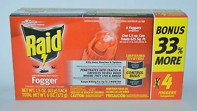 Raid Concentrated Deep Reach Fogger Ant Bug Roach Flea Mosquito Spider Killer