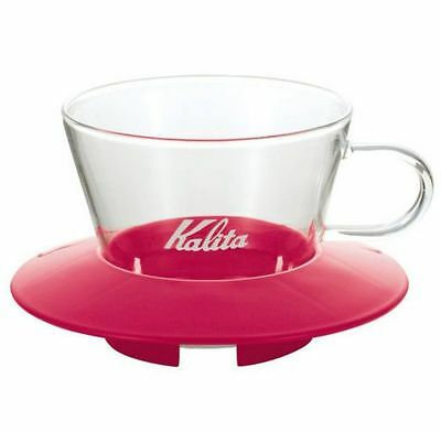 Kalita Wave-series Glass Dripper 155 (for 1-2 servings) Cherry Pink 05060