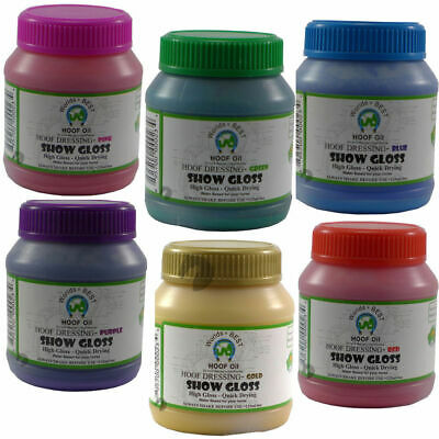 NEW Worlds Best Hoof Coloured Gloss Horse Pony Club Show 125ml great colours