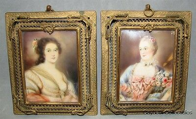 PR of PORTRAITS ON PORCELAIN MINIATURES-WOMEN OF THE FRENCH COURT