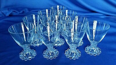 10 Anchor Hocking Fire King Boopie Bubble Glasses Mid Century Modern Vintage