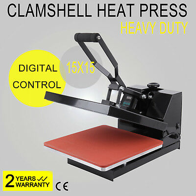 "15'X15"" Heat Press Transfer T-Shirt Sublimation Machine Digital Clamshell US"