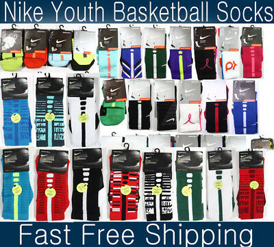 Nike Elite Cushioned Basketball socks Hyper elite socks KD Youth 3-5 women 4-6