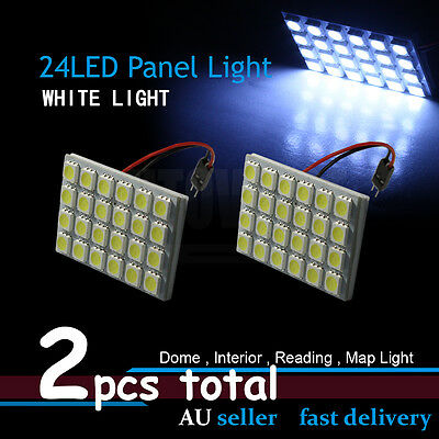2x 5050 24 LED Car Dome Map Light 3 Adapters For Toyota Land Cruiser Prado 150