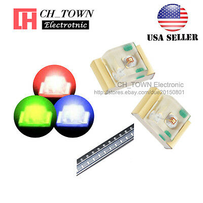 100PCS SMD SMT 0805 (2012) RGB Red Green Blue Light Common Anode LED Diodes USA