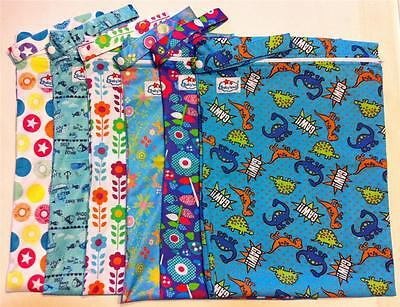 1 Large Baby Wet Bag - Approx 30cm x 40cm for Cloth Nappies and Wet Swimmers