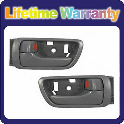 DS74 For 2002-2006 Toyota Camry Inside Door Handle Gray Left & Right Set of 2PCS