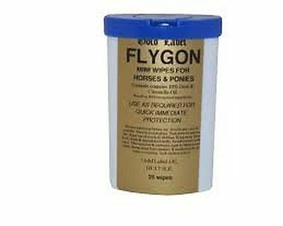 Brand New Gold Label Flygon 12 Wipes Insect Fly Repellent 100 OR 25