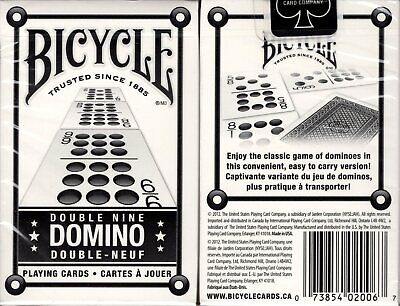 Double Nine Domino Deck Bicycle Playing Cards Bridge Size USPCC Game New Sealed